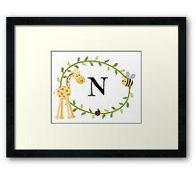 Nursery Letters N Framed Print