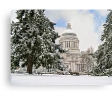 Winter Capitol  Canvas Print