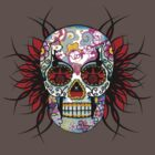 Hippy Skull T-Shirt by Mariska