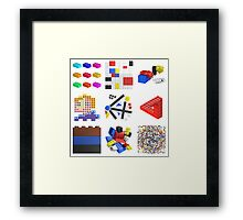 Toy Brick Gallery Framed Print