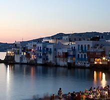 Little Venice, Mykonos Greece by Andrew Conn