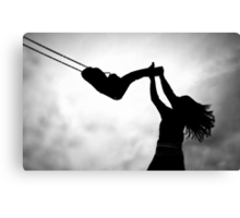 Swing me to the moon! Canvas Print