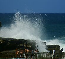 Crashing waves, Queenscliff, Sydney, Australia  by Of Land & Ocean - Samantha Goode