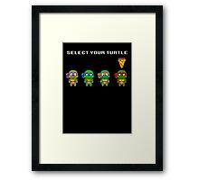 Select Your Turtle (Raphael) - TMNT Pixel Art Framed Print