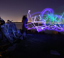 Light Graffiti at the Bulb by pexcoff
