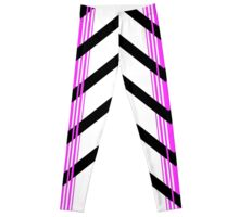 Gebra Offset - Black & Pink on White Leggings