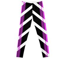 Gebra Offset - White & Pink on Black Leggings