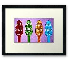 Bright Toothbrushes Framed Print