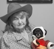 MY MOTHER/      AND HER  DOG  BABY/    by (AUDEAN)  NICK   G BIGGS
