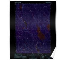 Maine USGS Historical Map Wytopitlock Lake 103127 1989 24000 Inversion Poster