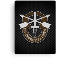 Special Forces Carbon iPhone / Samsung Galaxy Case Canvas Print