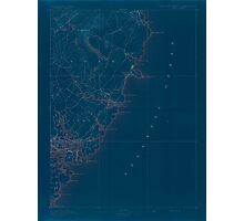 Maine USGS Historical Map York 306858 1893 62500 Inversion Photographic Print