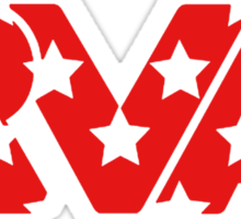 RVA -Stars Red Sticker