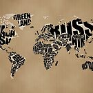 Typographic World Map by vladstudio
