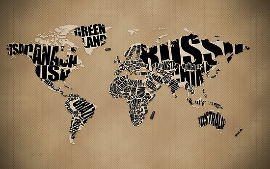 Typography: Typographic World Map by vladstudio