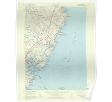 Maine USGS Historical Map York 306860 1956 62500 Poster