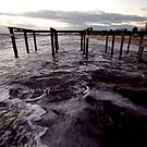 Yesterday's pier (Port Phillip Bay) by Elaine Stevenson