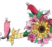 Bouquet Birds by tiffjamaica