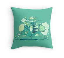 Walk with a friend Throw Pillow