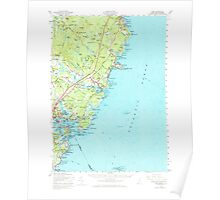 Maine USGS Historical Map York 461048 1956 62500 Poster