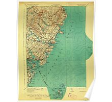 Maine USGS Historical Map York 807741 1920 62500 Poster