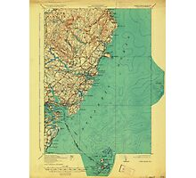 Maine USGS Historical Map York 807741 1920 62500 Photographic Print