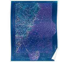 Maine USGS Historical Map York 807742 1920 62500 Inversion Poster
