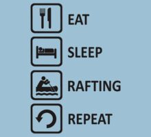 White Water Rafting Eat Sleep Repeat T-Shirt