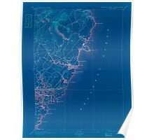 Maine USGS Historical Map York 807745 1893 62500 Inversion Poster