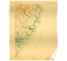 Maine USGS Historical Map York 807745 1893 62500 Poster