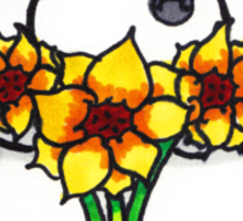 Baymax Sunflowers Sticker