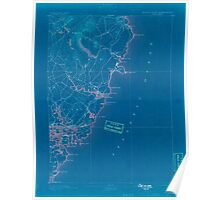 Maine USGS Historical Map York 807747 1893 62500 Inversion Poster