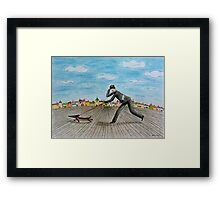 Walk with dog Framed Print