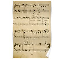 fragment with music  notes Poster