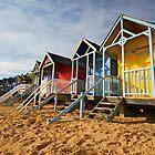 Wells Beach Huts by Rick Bowden
