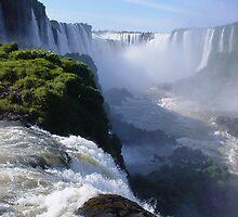 Iguazu Falls  in Brazil by Pauline Grainger Krivokapic