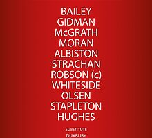 1985 Manchester United FA Cup Final Team by RED DAVID