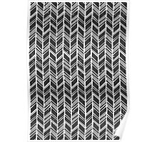 Hand Drawn Chevron Print Poster