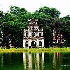 Ngoc Son Temple On Hoan Kiem Lake  by DavidCThomson