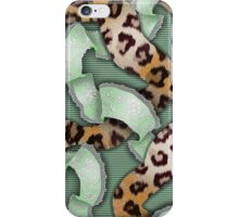 Leopards'n Lace - Green iPhone Case/Skin