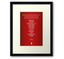 1963 Manchester United FA Cup Final Team Framed Print