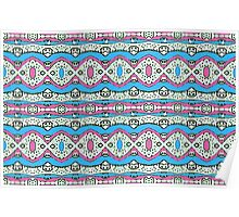 Aztec Style Pattern in Pastel Colors Poster