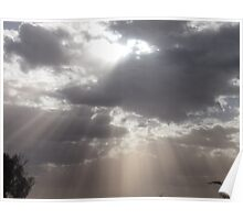 Light Breaking Clouds Poster