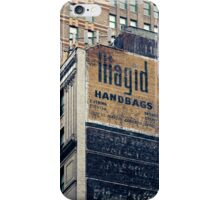Handpainted mural advertisements of the 1940s in Manhattan, NYC - Kodachrome Postcard  iPhone Case/Skin