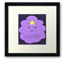Don't touch my lumps! Framed Print