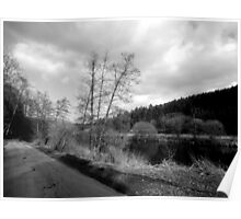 Black and white Landscape Poster