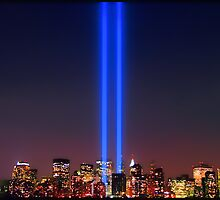911 WTC Tribute in Light by Scott  Hudson