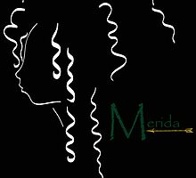 Merida´s outline in white by artescultura