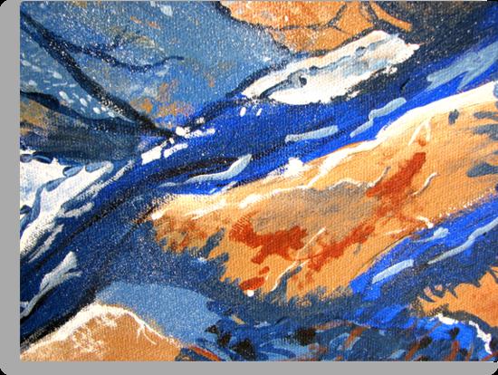 Tangerine Waves by Kathie Nichols