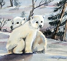 Polar Cubs by Lorna Gerard